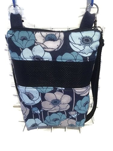 bonding-and-carrying-bag-for-sugar-gliders-or-other-small-pets-in-blue-and-navy-peony-flowers