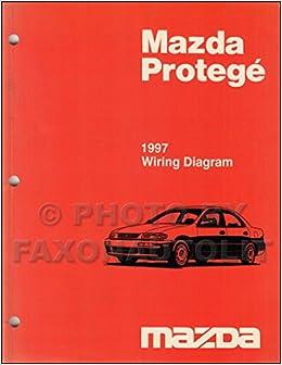 1997 mazda protege wiring diagram manual original paperback – 1997