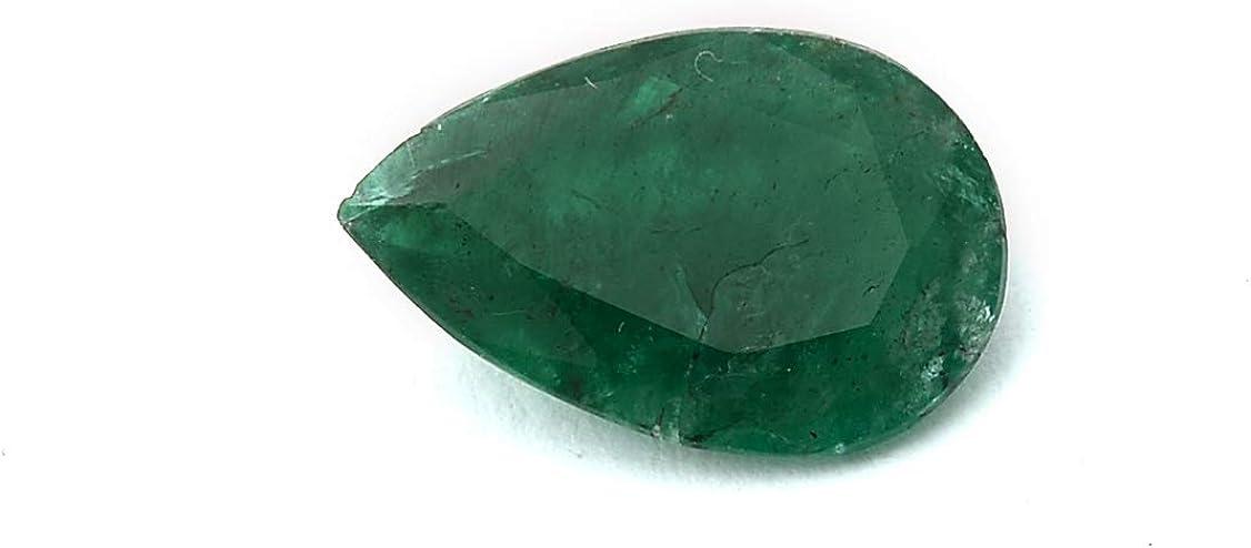 Jaipur Gems Mart 2.15 Quilates Forma Oval Natural de Zambia Verde Esmeralda Cabochan Pieza para Hacer la joyería, Pendiente de la Esmeralda, la curación de Piedras Preciosas