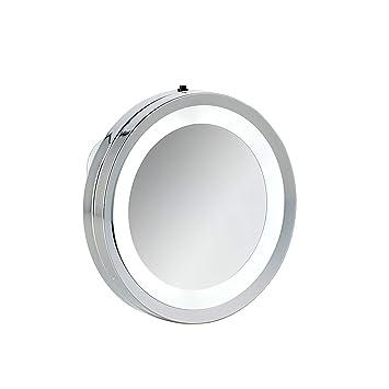 Axentia Spiegel Silber Wandspiegel Mit Saugnapf Badspiegel