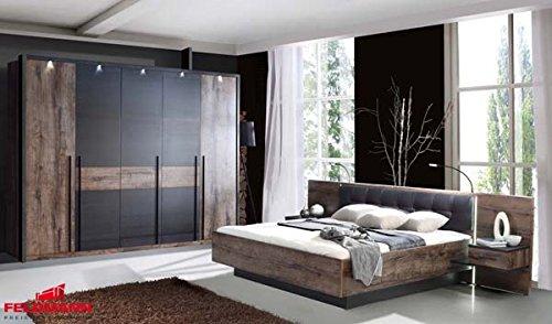 Schlafzimmer Bett + Kleiderschrank 62300 schlammeiche ...