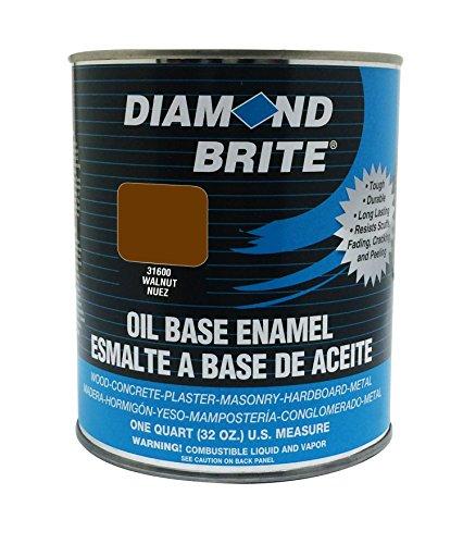 Diamond Brite Paint 31600 1 Quart Oil Base All Purpose Enamel Paint   Walnut (Professional Enamel Based Oil)