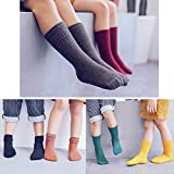 VWU 6 Pack Little Girls Boys Tube Socks Knee High