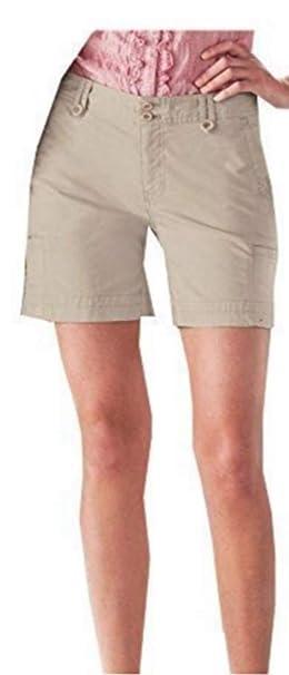 4b034b63fbb6 Shorts Dobbyshorts Mujer de Eddie Bauer - algodón, Arena, 98 ...
