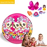 Widome 2018 New Surprise Balls Toy Collects Ring/Bottle/Seal/Hair Clip/ Aquatic Creatures/Balloon/Elf/ Rubber Band Mystery Toy(Random) for 3-12 Years Old Girl Kids'Birthday Gift