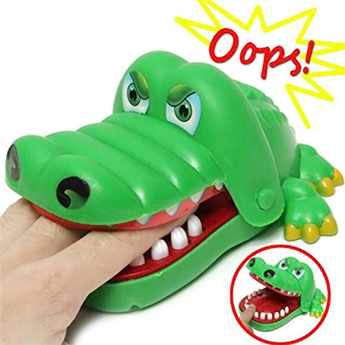 Fingers Big Mouth Crocodile Tooth Toy-Funny Sound Snapping Family Challenge Push Plastic Design Educational Teeth Game -