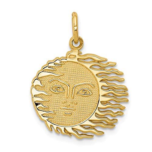 Cat Collars Swarovski (14k Yellow Gold Flaming Sun Pendant Charm Necklace Celestial Fine Jewelry For Women Gift Set)