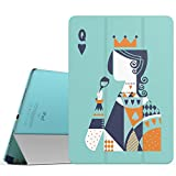iPad Pro 9.7 Case - MoKo Ultra Slim Lightweight Smart-shell Stand Cover with Translucent Frosted Back Protector for Apple iPad Pro 9.7 Inch 2016 Release Tablet, Poker Q (with Auto Wake / Sleep)
