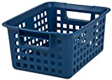 IRIS Medium Plastic Storage Basket, Blue