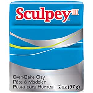 Sculpey Iii Polymer Clay 2oz-Turquoise