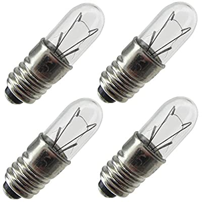 Industrial Performance 1767, 0.5 Watt, T1.75, Midget Screw (E5) Base Light Bulb (4 Bulbs)