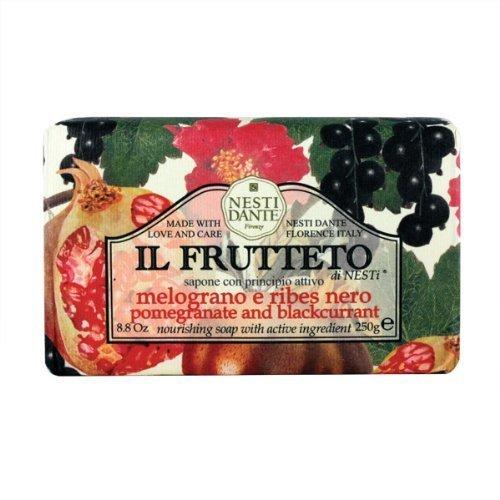 Nesti Dante Nesti Dante Il Frutteto Pomegranate and Black Currant Natural Fruit Scented Bar Soap for Bath Hands and Body 250g