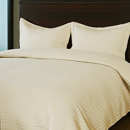 Throw Pillow Case Cover (Light Brown) Set of 3 - 7