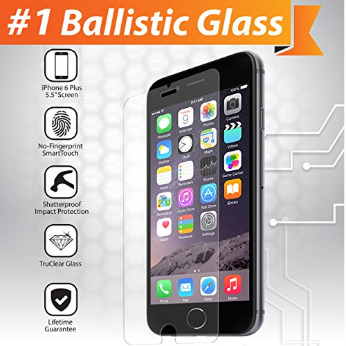 iGotTech iPhone 6 and 6s Tempered Glass Screen Protector (4.7 Inch ONLY) Ballistic Glass, Cell Phone Touchscreen (Touch Screen Cell Phones)