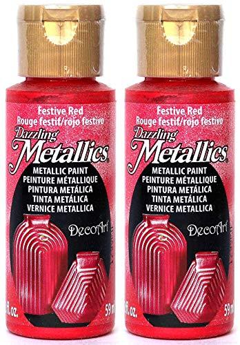DecoArt Dazzling Metallics Red 2 oz