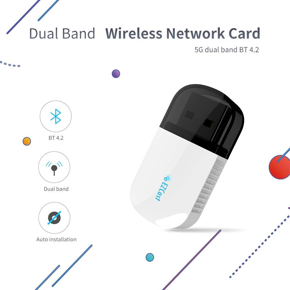 MINGRONG Adaptador inalámbrico WiFi USB AC 600 Mbps 4.2 ...
