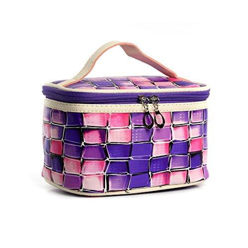 CLOTHES- Sacchetto cosmetico di modo della lattina di colore Ms. Europe e il sacchetto cosmetico del cuoio dell'unità di elaborazione delle borse degli Stati Uniti