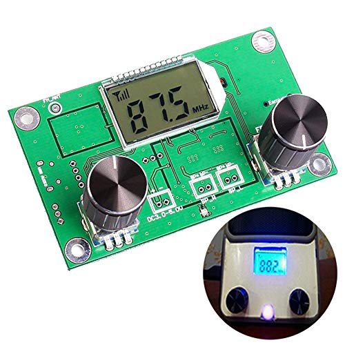 - Icstation Digital FM Radio Wireless Receiver Module LCD Display DSP PLL 76.0MHz-108.0MHz