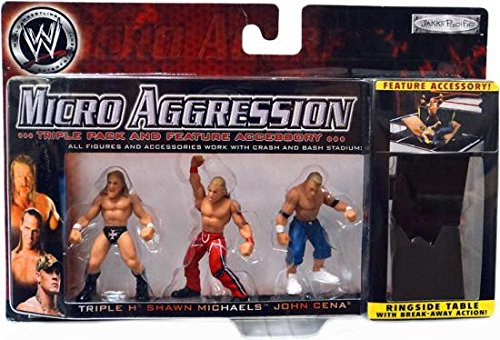 WWE Wrestling Micro Aggression Series 1 Figure 3Pack Triple H, John Cena Shawn Michaels