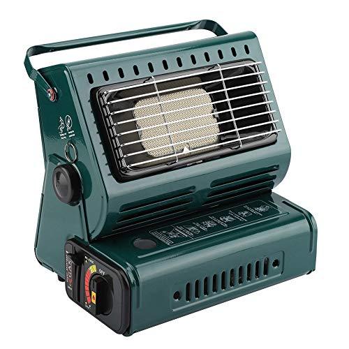 Calentador de Gas, EstufaPortátil, Estufa de Gas para Camping, Calentador de Gas Butano para Acampar y Al Aire Libre(Verde...