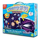 Puzzle Doubles! Discover It! The Learning Journey 3D Space Floor Puzzle