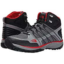 The North Face Litewave Explore Mid Monument Grey/Pompeian Red Men's Hiking Boots (8) (8)