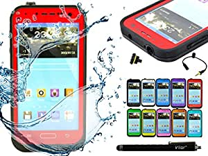 Viior ®Waterproof Shockproof Dirt Snow Proof Case Cover for Samsung Galaxy S4 I9500 (red)