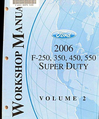 2006 Ford F-250, 350, 450, 550 Super Duty Workshop Manual (2 Volume Set)