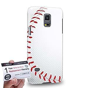 Case88 [Samsung Galaxy S5 Mini] 3D impresa Carcasa/Funda dura para & Tarjeta de garantía - Art Sports Baseball