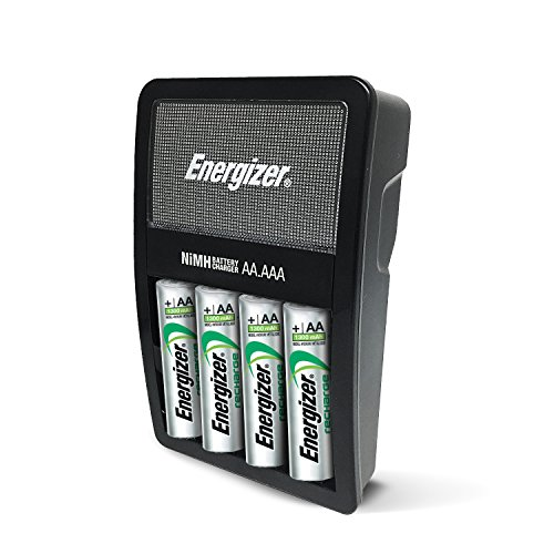 Energizer Rechargeable AA and AAA Battery Charger (Recharge Value) with 4 AA NiMH Rechargeable Batteries (Best Aa Aaa Battery Charger)