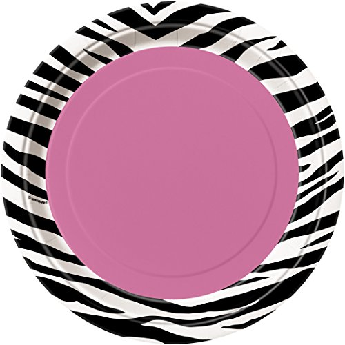 Zebra Print Dessert Plates 8ct