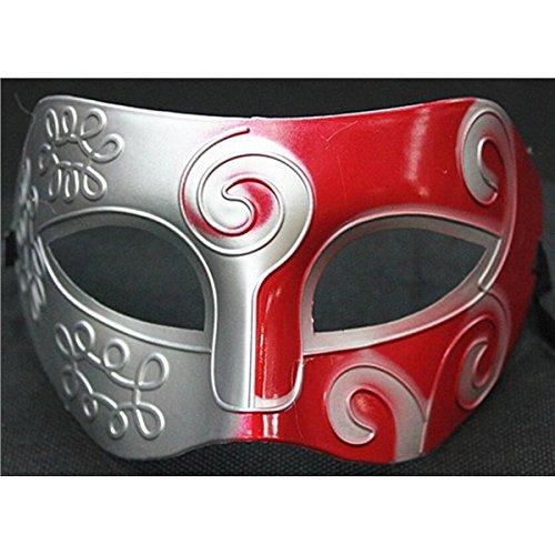 Maschere Rosso Vede Di Operato Vestito Mardi Cosplay argento Gladiatore La Spadaccino Gras Festa Il Romani Per Retrò Carnevale Natale Uqq5RxS