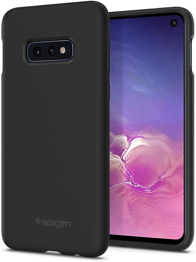 Spigen Silicone Fit Hülle Kompatibel Mit Samsung Galaxy S10e Schwarz Elektronik