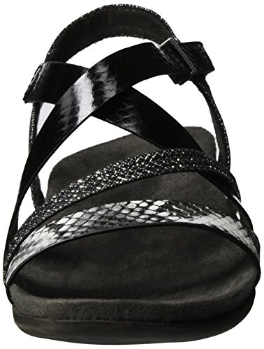 Tamaris 28400 - Sandalias con Cuña Mujer Negro (Black Comb 098)