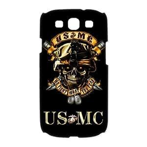 USMC Marine Corps With Skull Samsung Galaxy S3 I9300/I9308/I939 Best Durable Cover Case