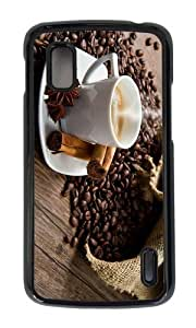 Google Nexus 4 Case,MOKSHOP Adorable Coffee Time Hard Case Protective Shell Cell Phone Cover For Google Nexus 4 - PC Black