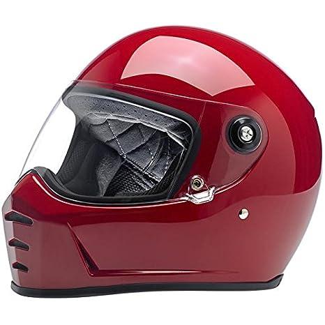Casco Helmet integral Biltwell Lane divisor approvazione Dot y homologado ECE Europa Italia Rojo Brillante Gloss
