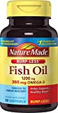 Cheap Nature Made Burpless Fish Oil 1200 mg  w. Omega-3 360 mg Softgels 60 Ct