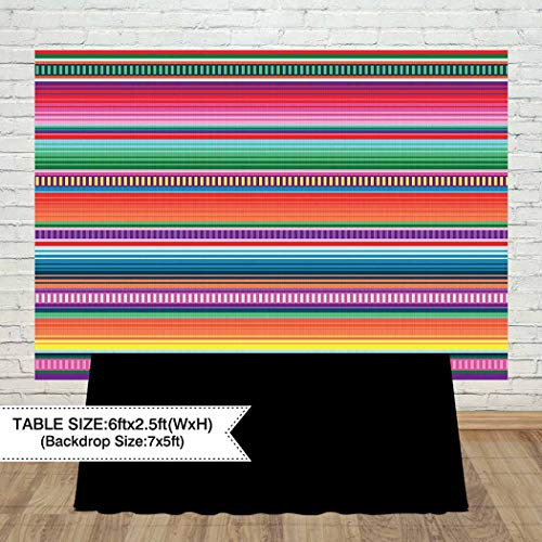 Allenjoy 7x5ft Color Fiesta Theme Party Stripes Backdrop Cinco De Mayo Mexican Festival Photography Background Cactus Banner Decoration Event Table Decor Banner Background Children Photo Booth Shoot by Allenjoy (Image #2)