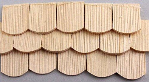 100 St Schindel aus Fichtenholz abgerundet. Zum Krippenbau, Puppenstuben. 30x22 mm.