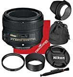 Nikon AF-S NIKKOR 50mm f/1.8G Lens for DSLR Cameras Basic Accessory Kit