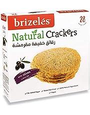 Brizeles Olives, Gourmet Savoury Cracker, 105g - Pack of 1
