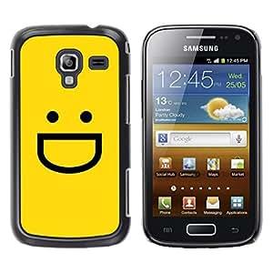 Be Good Phone Accessory // Dura Cáscara cubierta Protectora Caso Carcasa Funda de Protección para Samsung Galaxy Ace 2 I8160 Ace II X S7560M // Yellow Emoticon Emoji
