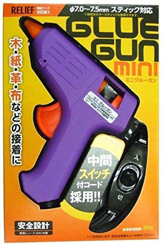 RELIEF スイッチ付ミニグルーガン グルースティック5本付き 20361