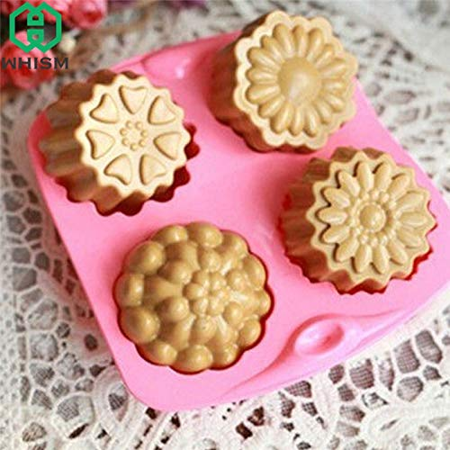 1 piece WHISM 3D Silicone Mold Cake Candy Baking Mould Baking Pan Tray Chocolate Soap Silicone Molds DIY Handmade Jewelry Making Moulds -