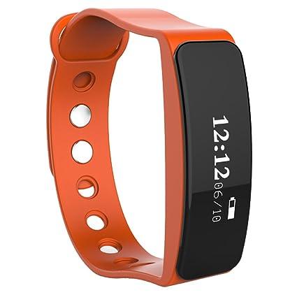 MERRYHE Banda De Muñeca Inteligente Bluetooth Sleep Sports Actividad Fitness Rastreador Podómetro Pulsera Smartwatch Reloj Inteligente