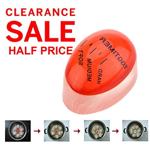 - YueBon Kitchen Gadget, Silicone Heat Sensitive Egg Timer, Reusable Color Changing Boiled Egg Timer