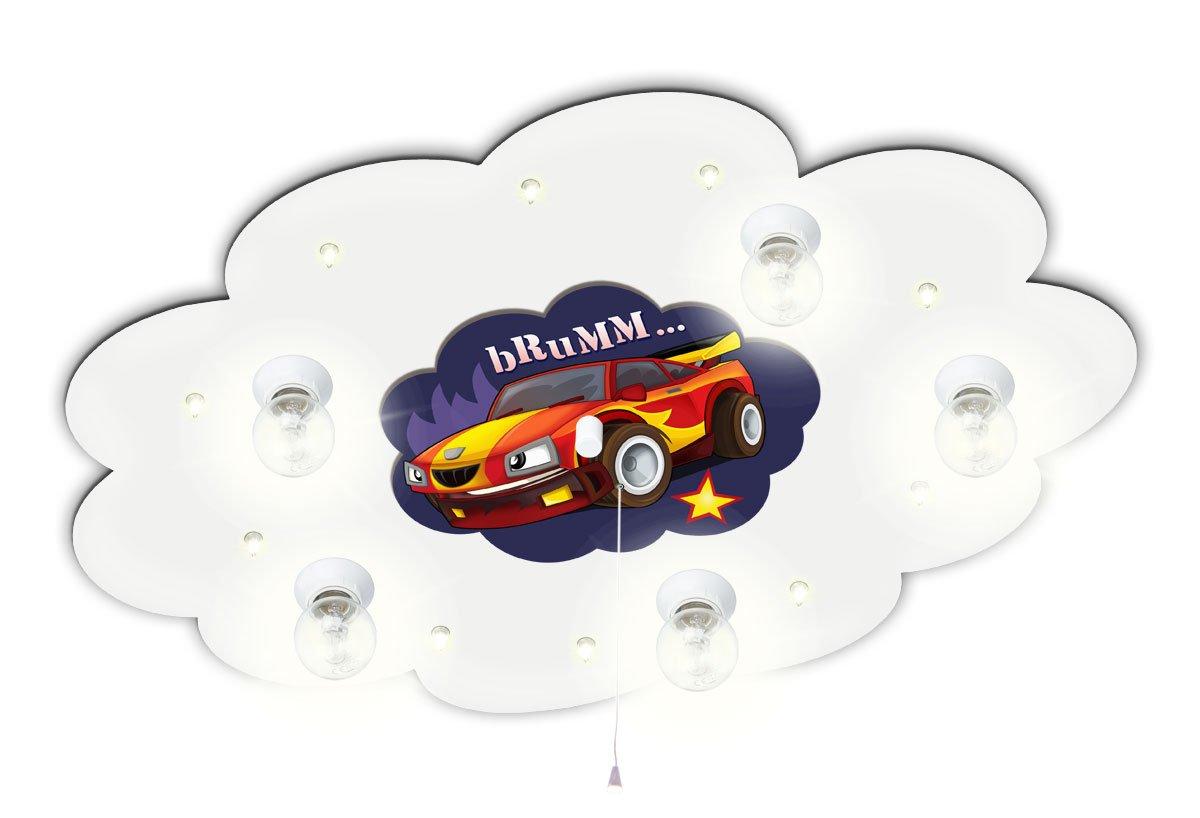 Kinderzimmer Leuchte mit Motiv Auto Rennwagen mitKindernachtlicht ...