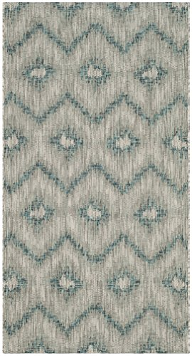 Safavieh Courtyard Collection CY8463-37212 Grey and Blue Indoor/ Outdoor Area Rug (2'7