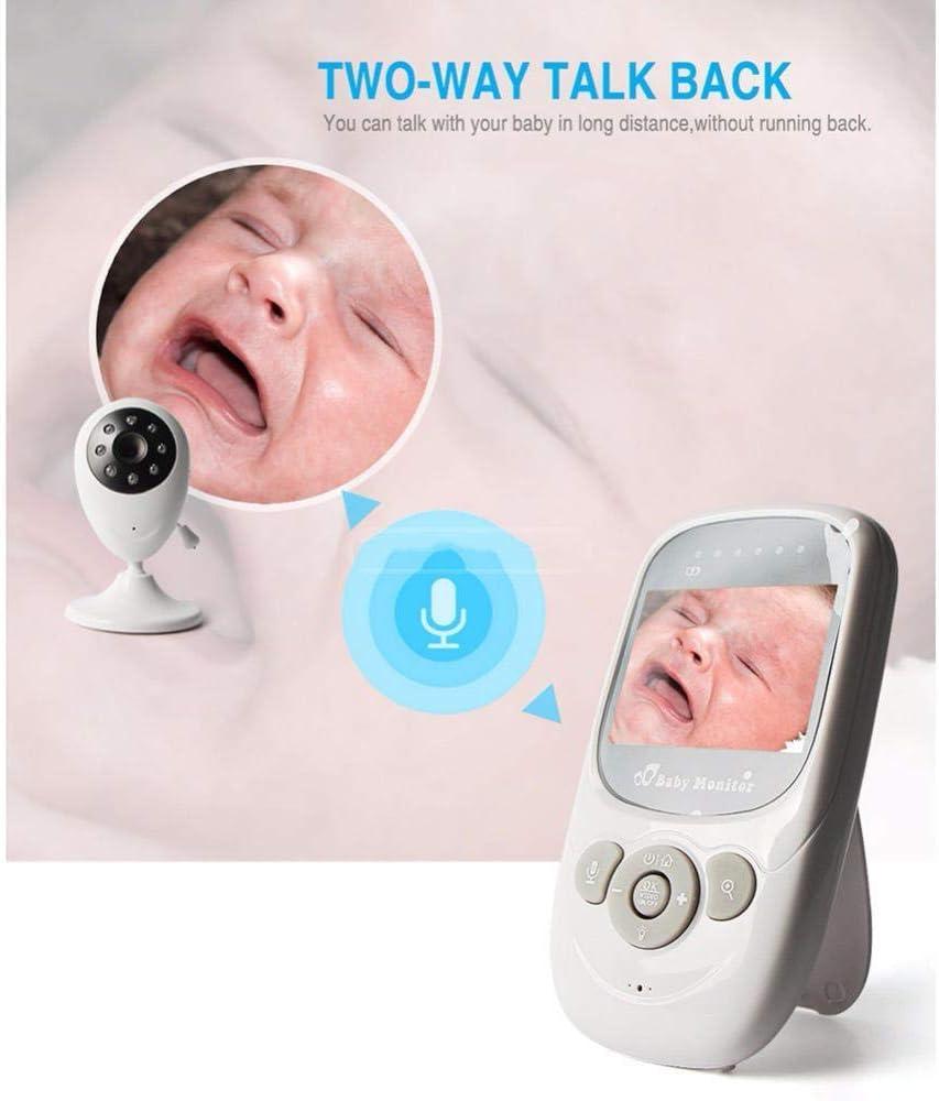 Baby Monitor 2.4 pulgadas de video inalámbrico de dos vías de audio por infrarrojos 5M Cuna Temperatura cámara de vigilancia portátil apto for uso interior del cuarto de niños del bebé White Room Cáma